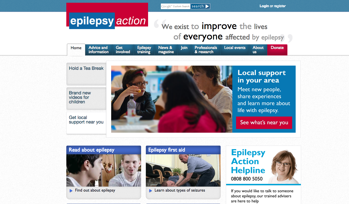 Epilepsy Action homepage