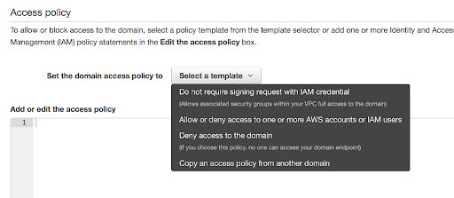 Allowing access to the domain using IAM