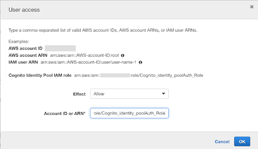 Allowing authenticated Cognito users access