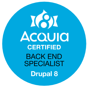 Drupal 8 Certified Back End Specialist