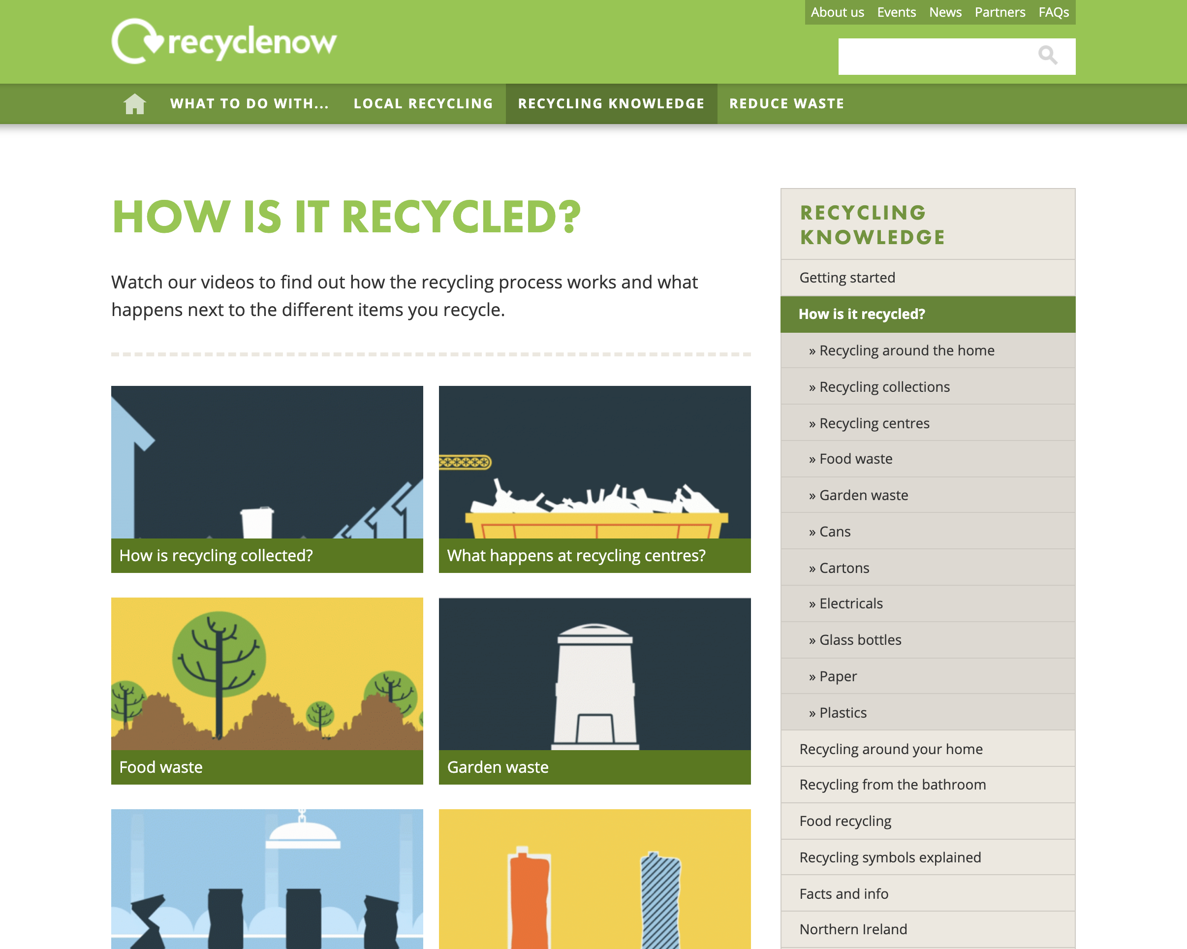 Recycle Now recycling information