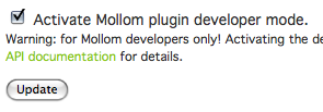 Mollom Developer Mode