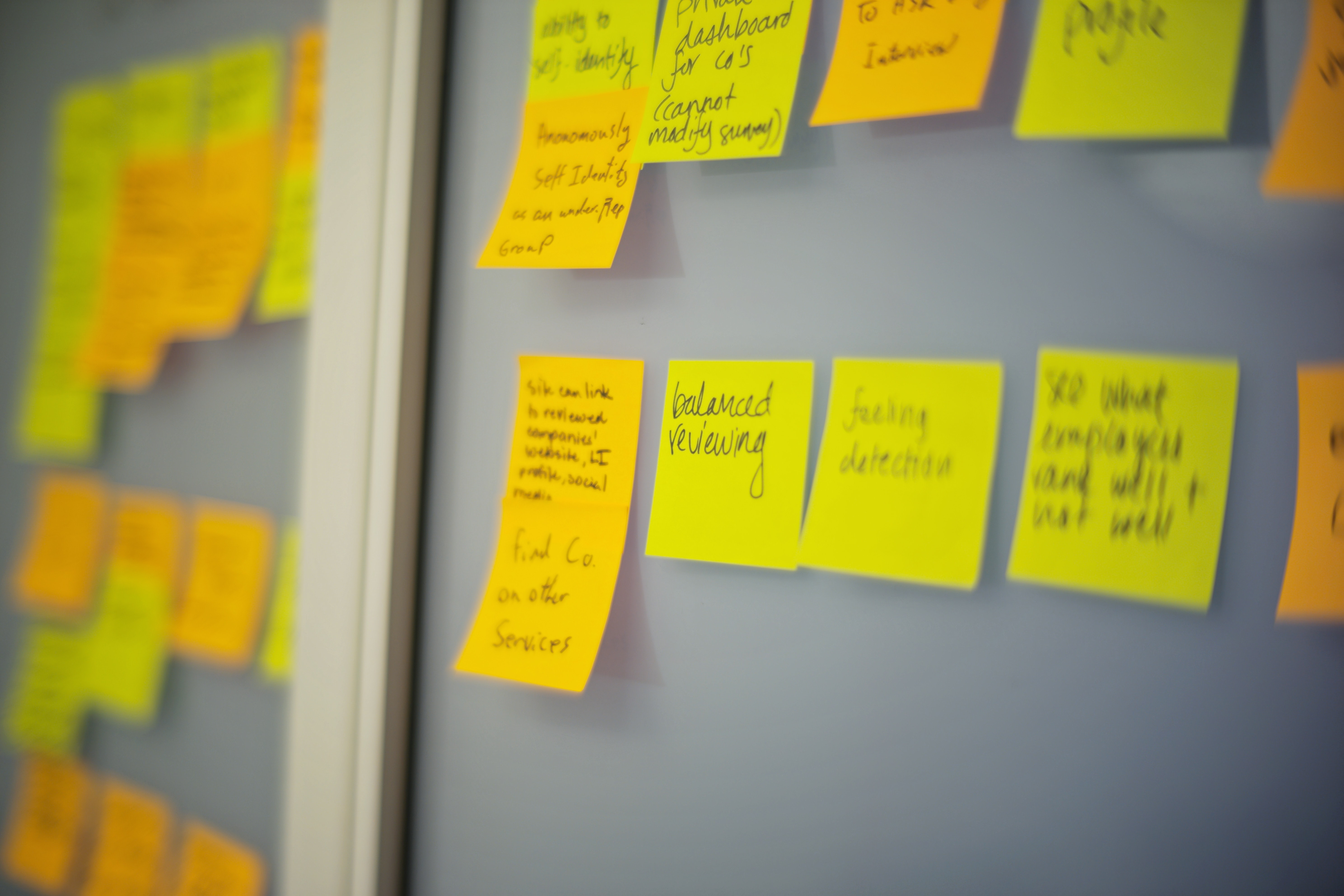 Sticky notes on a wall by Will McMahan on Unsplash