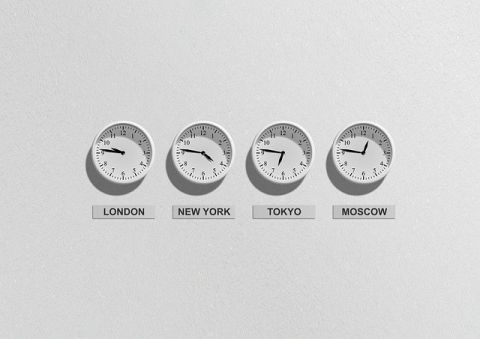 four time zone clocks