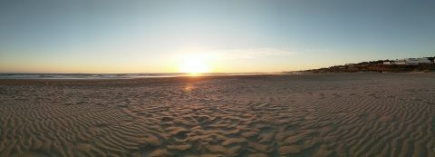 Sunset in Conil beach at the DrupalCamp 2019