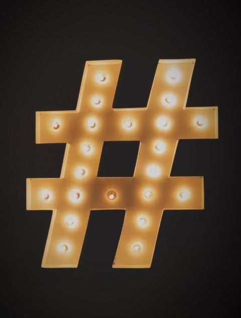 Hashtag light by Jon Tyson