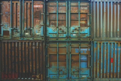 A picture of shipping containers