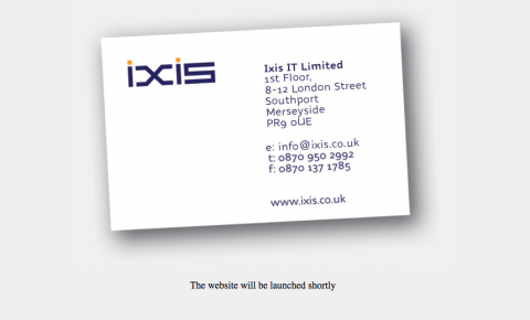 Ixis business card in 2004