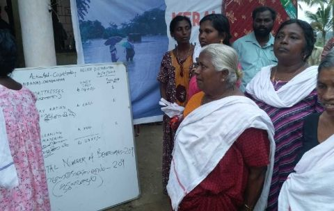 Transparency board in a village in Alappuzha district in Kerala, after devastating floods in 2018. Photo: ActionAid India