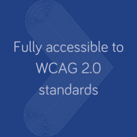 Fully accessible to WCAG 2.0 standards