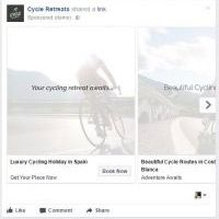 Cycle Retreats - Facebook Ad